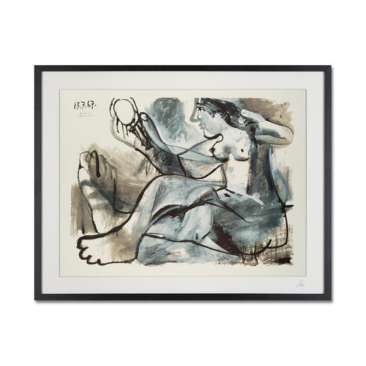 """Pablo Picasso: """"Akt im Spiegel"""" (1967) - Pablo Picasso """"Akt im Spiegel"""" (1967) als High-End Prints™. Endlich eine Qualität, die dem großen Meisterwerk tatsächlich gerecht wird."""