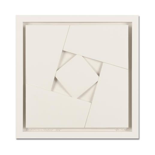 Peter Weber – Eingeschlossenes Quadrat - Einzigartige Faltkunst: Aus einem Stück von Hand gefertigt. Peter Webers geheimnisvolle Werke. Erste Unikatserie von 15 Exemplaren – exklusiv bei Pro-Idee.