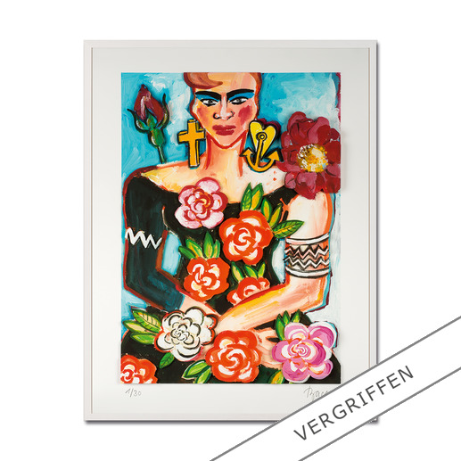 Elvira Bach – Magnolia - Unverkennbar Elvira Bach: Eines ihrer weltberühmten Frauenportraits – erstmalig als 3D-Edition. 30 Exemplare.