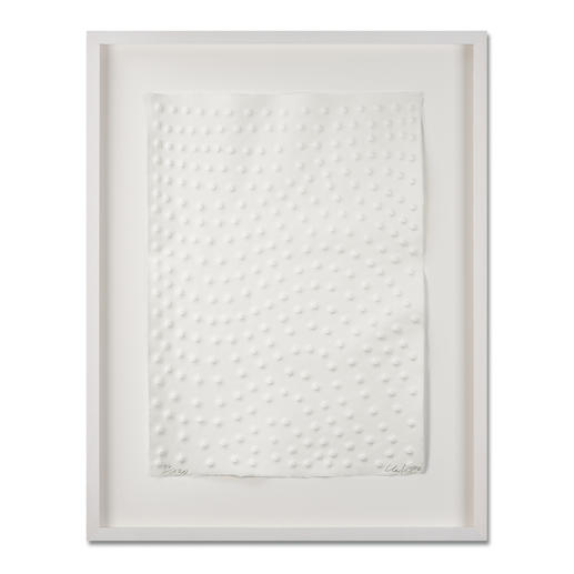 Günther Uecker – Graphein B - Prägedruck auf 300-g-Büttenpapier   Auflage: 120 Exemplare zzgl. e. a.   Blattgröße (B x H): 50 x   70 cm   Maße: gerahmt 73 x 93 cm