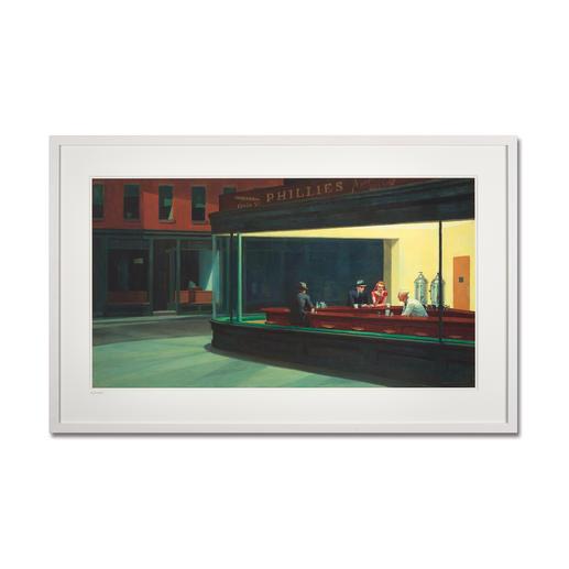 """Edward Hopper – Nighthawks (1941) - Edward Hopper """"Nighthawks"""" (1941) als High-End Prints™. Endlich eine Qualität, die dem großen Meisterwerk tatsächlich gerecht wird."""