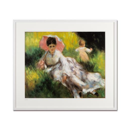 """Pierre-Auguste Renoir – Dame mit Sonnenschirm (1874–76) - Pierre-Auguste Renoir """"Dame mit Sonnenschirm"""" (1874-76) als High-End Prints™. Endlich eine Qualität, die dem großen Meisterwerk tatsächlich gerecht wird."""