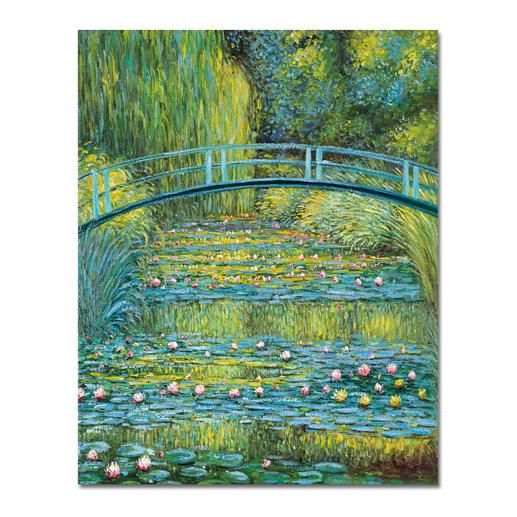 Zhao Xiaojie malt Monet – Bridge over a Pond of Water Lilies - Ein Millionen-Euro-Kunstwerk in Ihrer Sammlung? Beinahe. Die perfekte Kunstkopie – 100 % von Hand in Öl gemalt.