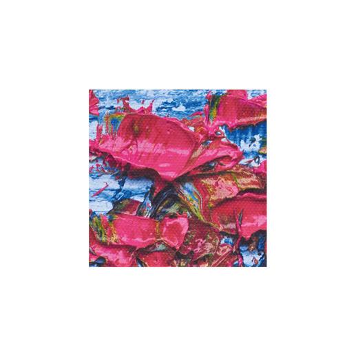 Sein Markenzeichen: Der dicke Farbauftrag mit dem Ausblenden der Farbe in eine Richtung.