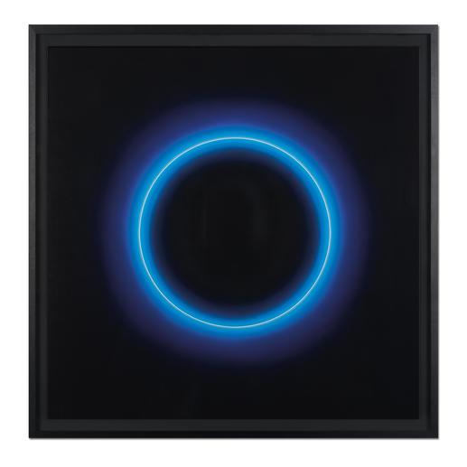Fabrizius² – Ohne Titel – Kreis Weiß in Blau - Die vierhändige Kunstsensation.  Erste Edition der Zwillingsschwestern Fabrizius. 35 Exemplare.