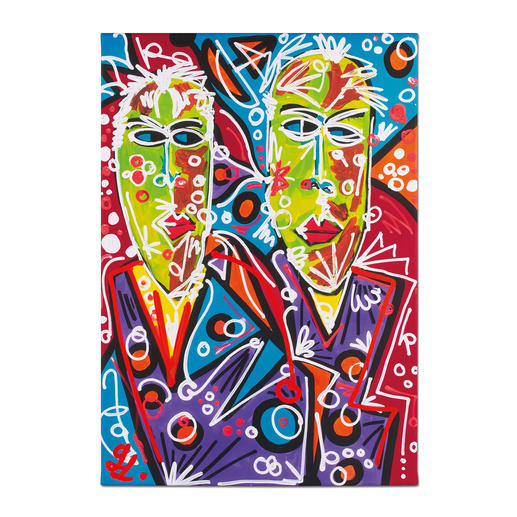 Leon Löwentraut – Brothers - Leon Löwentraut: Investition in ein außergewöhnliches Talent. Zweite exklusive Pro-Idee Edition des Shootingstars der deutschen Kunstszene. Maße: 70 x 100 cm