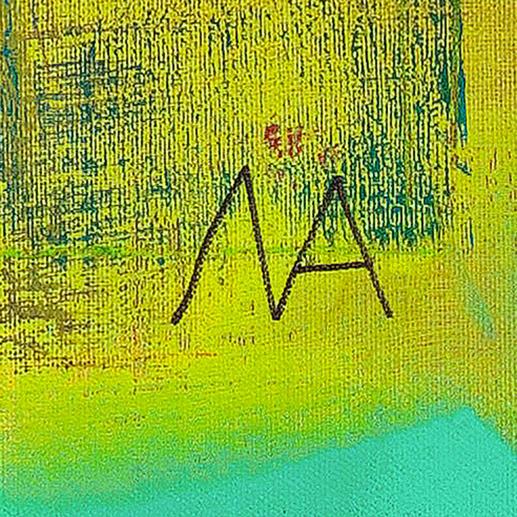 Handsignatur des jungen Künstlers.