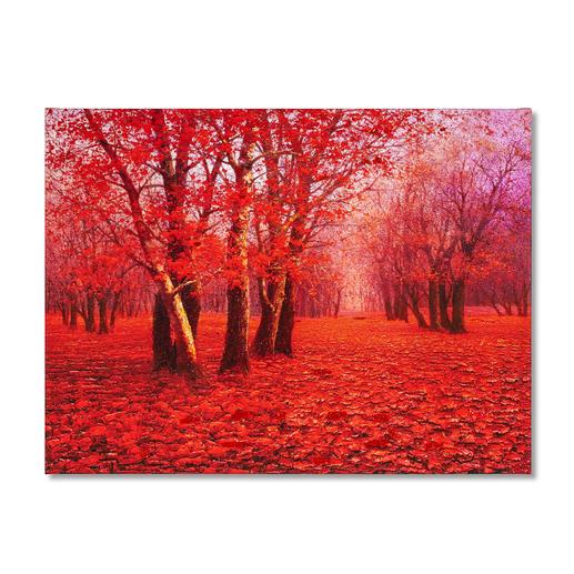 Pei Lian Zhi – Red Forest Pei Lian Zhi: In mehr als 200 Sammlungen vertreten.Neueste Edition – partiell von Hand übermalt. 40 Exemplare. Maße: 120 x 90 cm