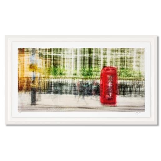 """Jacob Gils – London #28 Impressionistisches Gemälde? Oder modernste Fotografie? Jacob Gils' Edition """"London #28"""" aus über 100 Einzelaufnahmen. Exklusiv bei Pro-Idee. 20 Exemplare. Maße: gerahmt 132 x 78 cm"""