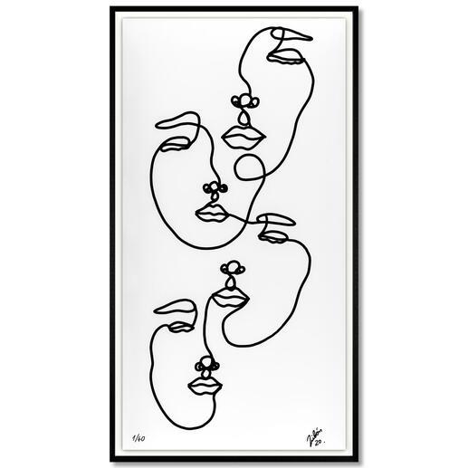 Andrés Ribón Troconis – Family Andrés Ribón Troconis: Der Geheimtipp aus Südamerika. Dritte Pro-Idee Edition (die ersten beiden waren nach kurzer Zeit ausverkauft). 40 Exemplare. Maße: gerahmt 60 x 110 cm