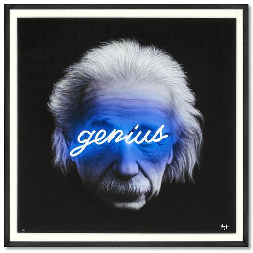 Shyglo – Genius Einzigartig: Fotorealistische Malerei, gepaart mit Street-Art. Shyglos exklusive Pro-Idee Edition. 30 Exemplare. Maße gerahmt: 90 x 90 cm