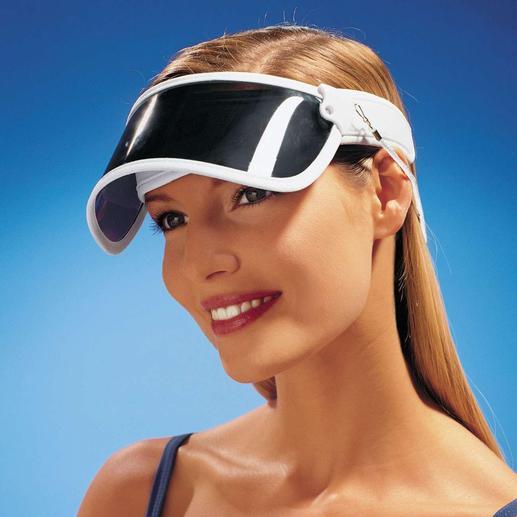 Sonnenvisier Schützt Sie vor 99 % aller UV-Strahlen.