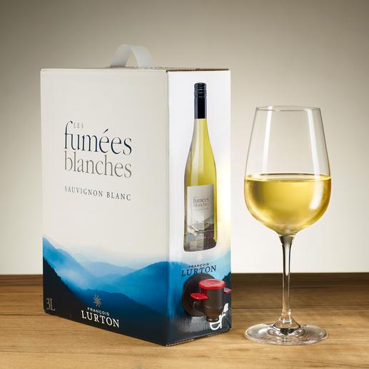 """Sauvignon Blanc """"Les Fumées Blanches"""" 2017, François Lurton, Frankreich Jacques Lurtons erfreulich erschwinglicher Sauvignon Blanc."""