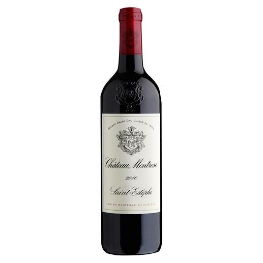 """Château Montrose 2010, Saint-Estèphe AC, Bordeaux, Frankreich - """"Ein fabelhafter Wein. 100 Punkte."""" (Robert Parker, Wine Advocate 214, 08/2014)"""
