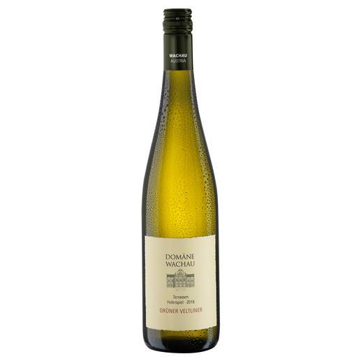 """Grüner Veltliner Federspiel """"Terrassen"""" 2015, Qualitätswein, Domäne Wachau, Österreich Der Weißwein des Jahres aus Österreich. (Weinwirtschaft 01/2009)"""