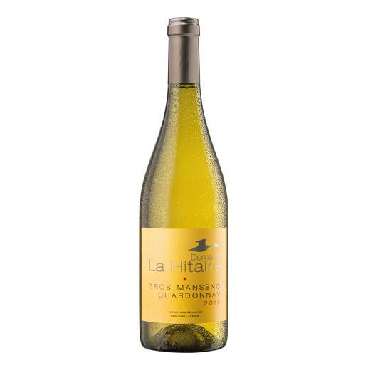 """Gros Manseng Chardonnay 2015, Domaine La Hitaire, Cotes de Gascogne, Frankreich - """"Der beste Weißwein aus Frankreich."""" (Von 199 verkosteten Weißweinen aus Frankreich, Mundus Vini Frühjahrsverkostung 2016)"""