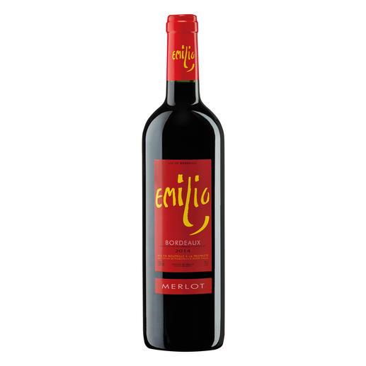 Emilio Merlot 2014, Bordeaux AOC, Frankreich 17 (!) Jahrgänge machte er 500-Euro-Weine. Hier ist sein neuester Coup.