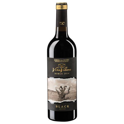 Viña Vilano Roble Black 2014, Ribera del Duero, Spanien Schokolade, Toffee, perfektes Holz. Der Wein für die Freunde des modernen Stils.