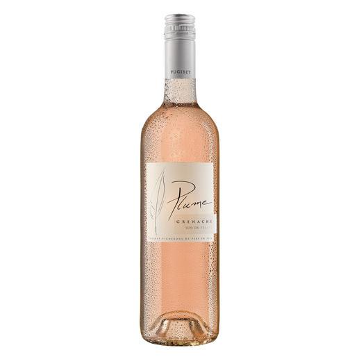 Plume Rosé 2017, Domaine La Colombette, Vin de Pays des Coteaux du Libron, Languedoc, Frankreich Trocken. Nur 9 % Alkohol. Aber 100 % Genuss.