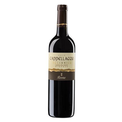 """Cappellaccio 2010, Vinicola Rivera, Castel del Monte, Apulien, Italien """"Vergleichbar mit Weinen, die 40 US$ kosten."""" (Robert Parker, Wine Advocate 226, 08/2016)"""