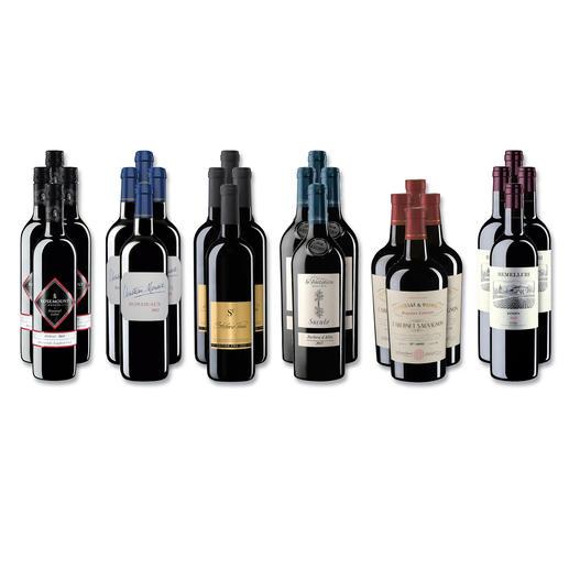 """Weinsammlung """"Die kleine Rotwein-Sammlung für anspruchsvolle Genießer Herbst 2017"""", 24 Flaschen Wenn Sie einen kleinen, gut gewählten Weinvorrat anlegen möchten, ist dies jetzt besonders leicht."""
