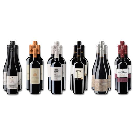 """Weinsammlung """"Die kleine Rotwein-Sammlung Frühjahr/Sommer 2018"""", 24 Flaschen Wenn Sie einen kleinen, gut gewählten Weinvorrat anlegen möchten, ist dies jetzt besonders leicht."""