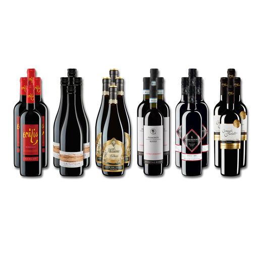 """Weinsammlung """"Die kleine Rotwein-Sammlung Winter 2018"""", 24 Flaschen - Wenn Sie einen kleinen, gut gewählten Weinvorrat anlegen möchten, ist dies jetzt besonders leicht."""