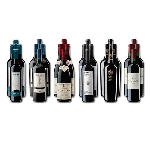 """Weinsammlung """"Die kleine Rotwein-Sammlung für anspruchsvolle Genießer Frühjahr/Sommer 2019"""", 24 Flaschen Wenn Sie einen kleinen, gut gewählten Weinvorrat anlegen möchten, ist dies jetzt besonders leicht."""