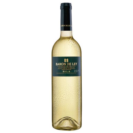 Rioja Blanco 2018, Baron de Ley, Rioja, Spanien Der weiße Rioja: kaum bekannt. Und daher (noch) erfreulich günstig.