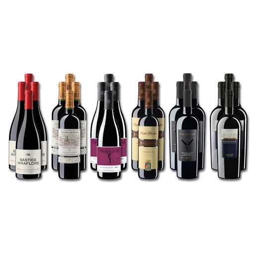 """Weinsammlung """"Die kleine Rotwein-Sammlung für anspruchsvolle Genießer Winter 2019"""", 24 Flaschen Wenn Sie einen kleinen, gut gewählten Weinvorrat anlegen möchten, ist dies jetzt besonders leicht."""