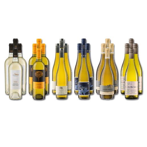 """Weinsammlung """"Die kleine Weißwein-Sammlung Frühjahr 2020"""", 24 Flaschen Wenn Sie einen kleinen, gut gewählten Weinvorrat anlegen möchten, ist dies jetzt besonders leicht."""