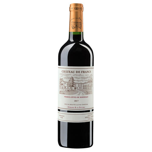 Château de Francs 2017, Francs, Bordeaux, Frankreich Der bezahlbare Bordeaux mit dem Know-how von Château Cheval Blanc.