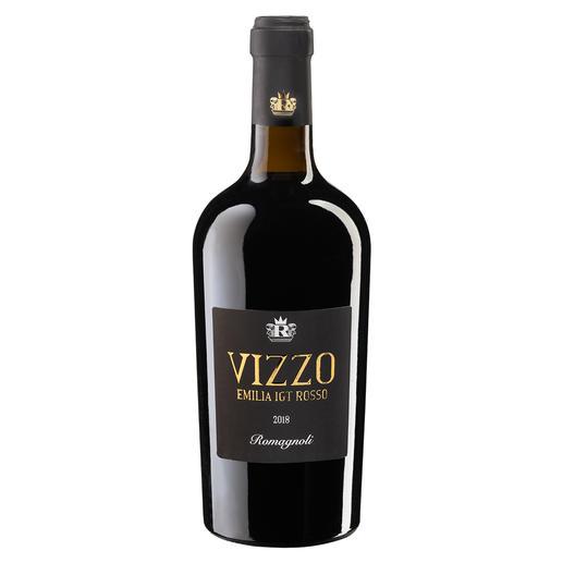 "Vizzo 2018, Romagnoli, Emilia Romagna, Italien - ""Ein großartiger Wein. 98 Punkte."" (Luca Maroni, www.lucamaroni.com, 25.03.2019)"