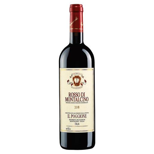 Rosso Poggione 2018, Tenuta Il Poggione, Toskana, Italien In einigen Jahren wird der Wein von diesen Reben deutlich mehr als das Doppelte kosten.