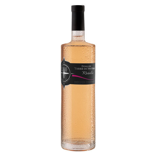 Rosé Rosalie 2020, Domaine Terre de Mistral, Provence, Frankreich Der Preis-Genuss-Sieger. Unter 91 (!) Provence Rosés. (Decanter, August 2019)