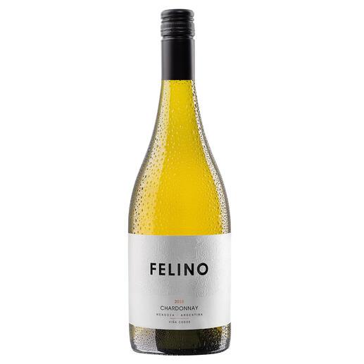 """Felino Chardonnay 2018, Viña Cobos, Mendoza, Argentinien Ein Neue-Welt-Chardonnay wie aus dem Bilderbuch. Von """"einem der brillantesten Weinmacher"""" (Robert Parker, Wine Advocate 180, 12/2008)"""