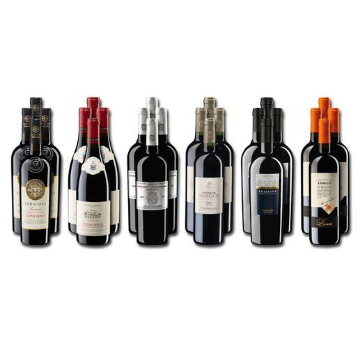 Weinsammlung - Die kleine Rotwein-Sammlung für anspruchsvolle Genießer Winter 2020, 24 Flaschen Wenn Sie einen kleinen, gut gewählten Weinvorrat anlegen möchten, ist dies jetzt besonders leicht.