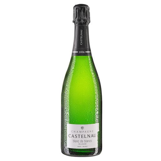 Champagne Castelnau Blanc de Blanc 2006, Frankreich Der Geheimtipp aus der Champagne. 12 (!) Jahre Hefelager. Mehr als bei berühmten Prestige-Cuvées.