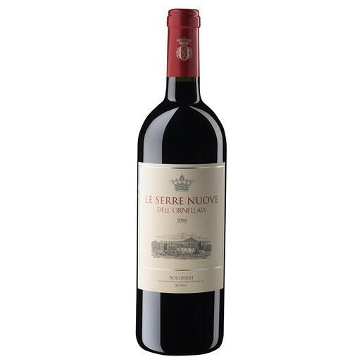 Le Serre Nuove 2018, Tenuta dell'Ornellaia, Bolgheri, Toskana, Italien Der Wein aus diesen Reben wird in einigen Jahren das Dreifache kosten.