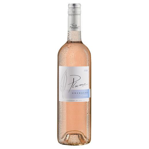 Plume Rosé 2020, Domaine La Colombette, Coteaux du Libron, Languedoc, Frankreich Trocken. Nur 9 % Alkohol. Aber 100 % Genuss.