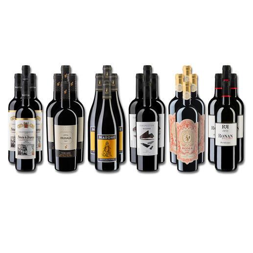 Weinsammlung - Die kleine Rotwein-Sammlung Herbst 2021, 24 Flaschen Wenn Sie einen kleinen, gut gewählten Weinvorrat anlegen möchten, ist dies jetzt besonders leicht.