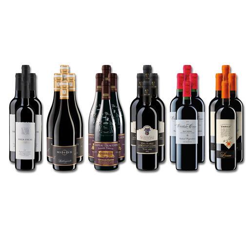 Weinsammlung - Die kleine Rotwein-Sammlung für anspruchsvolle Genießer Herbst 2021, 24 Flaschen Wenn Sie einen kleinen, gut gewählten Weinvorrat anlegen möchten, ist dies jetzt besonders leicht.