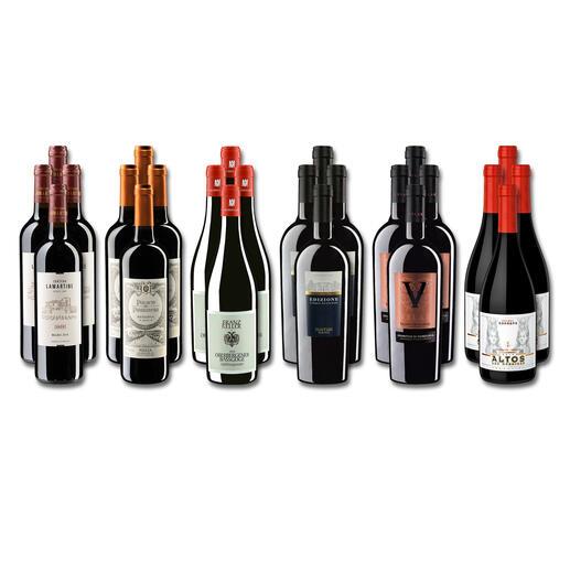 Weinsammlung - Die kleine Rotwein-Sammlung für anspruchsvolle Genießer Winter 2021, 24 Flaschen Wenn Sie einen kleinen, gut gewählten Weinvorrat anlegen möchten, ist dies jetzt besonders leicht.