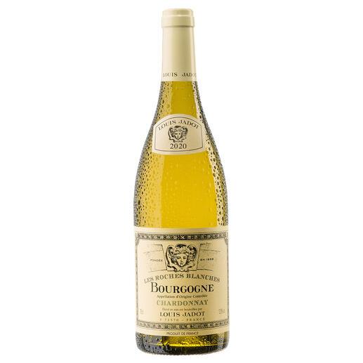 """Bourgogne Chardonnay """"Les Roches Blanches"""" 2020, Louis Jadot, Burgund, Frankreich Endlich ein weißer Burgunder, der seinen Namen verdient."""
