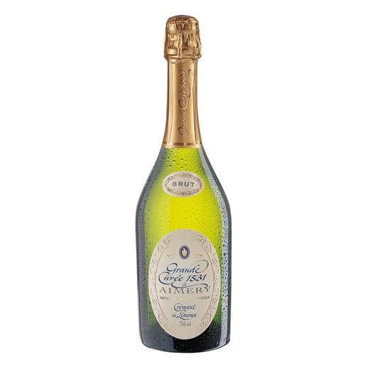 """Crémant de Limoux """"Grande Cuvée 1531"""" Brut, Aimery-Sieur d´Arques, Languedoc, Frankreich Die 10 Sieger kosteten alle über 30 €. Mit einer Ausnahme. (""""Stern"""" Ausgabe 49/2007 von 176 verkosteten Schaumweinen.)"""