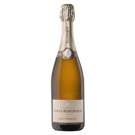 """Champagne Louis Roederer Brut Premier, Reims, Champagne AOC, Frankreich Viermal in Folge """"Champagner des Jahres"""". (Weinwirtschaft 01/2007, 01/2008, 01/2011 und 01/2012)"""