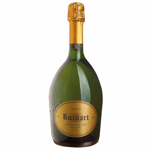 """Champagne """"R"""" de Ruinart Brut, Champagne AOC, Reims, Frankreich Serviert im Elysée-Palast, beim Jungfernflug der Concorde und jetzt bei Ihnen."""