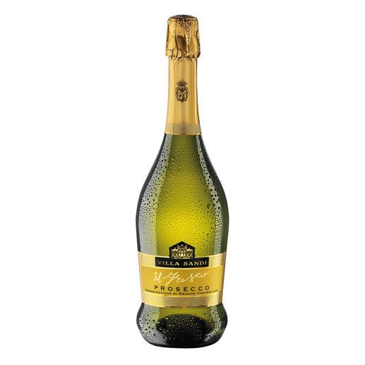 """Prosecco """"il Fresco"""", Villa Sandi, Venetien, Italien Fünfzehnmal (!) """"Prosecco des Jahres"""". (Weinwirtschaft 2004 und 2006 bis 2018 und 2020, jeweils Ausgabe 1 des Folgejahres)"""