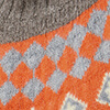 Orange/Grau/Beige
