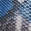 Jeansblau/Taupe/Weiß/Schwarz